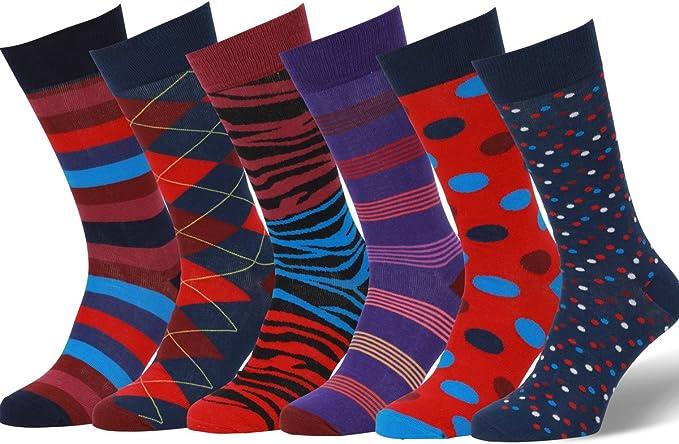 Easton Marlowe Calze Fantasia Colori Luminosi Calzini Uomo Donna Cotone