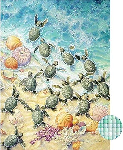 DIY Full Drill 5D Diamond Painting Sea Turtles Cross Stitch Art Embroidery Kits