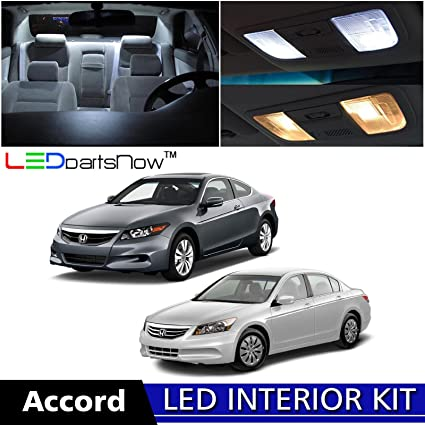 LEDpartsNow 2003 2012 Honda Accord LED Interior Lights Accessories  Replacement Package Kit (12 Pieces