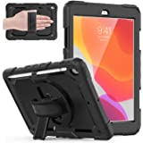 Weuiean Compatible with iPad 8th Generation 2020 Case/ 7th Generation 10.2 Inch 2019 Case, 360 Degrees Rotate Hand Controllin