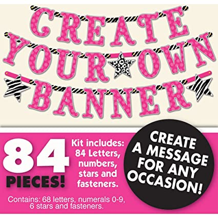 amazon com create your own banner kit any message birthday party 84