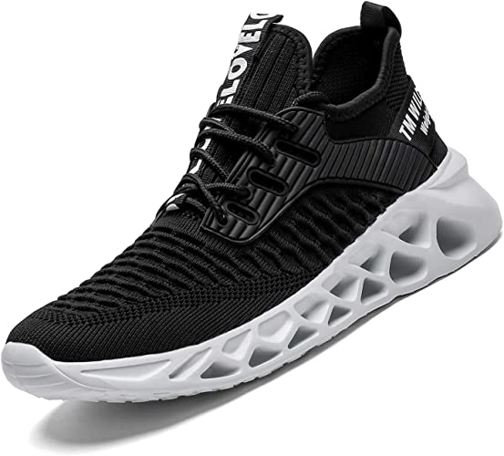 Men Sports Flat Shoes Mesh Running Gym Light Weight Trainers Breathable Sneaker