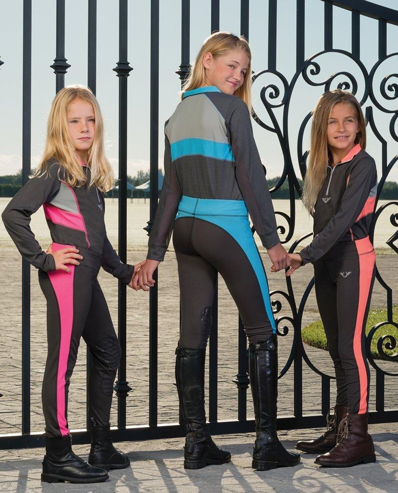 TuffRider Women's Sydney Knee Patch Breeches Contoured Sock Bottom 100734-P