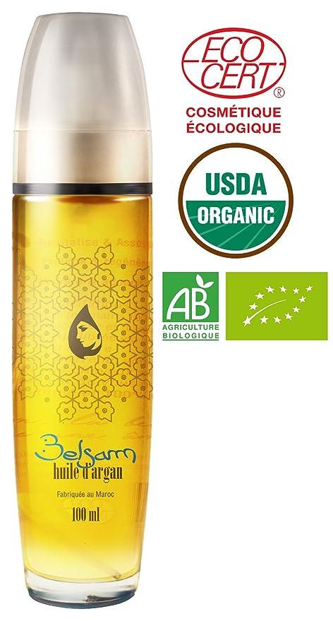 belsam – Aceite de Argán Pure 100% Bio, natural, producción artesanal. 100