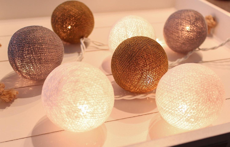 CREATIVECOTTON Cadena de luces LED Ambiance con 35 bolas de ...