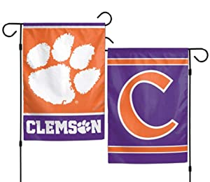 WinCraft NCAA Clemson University Tigers 12x18 Inch 2-Sided Outdoor Garden Flag Banner