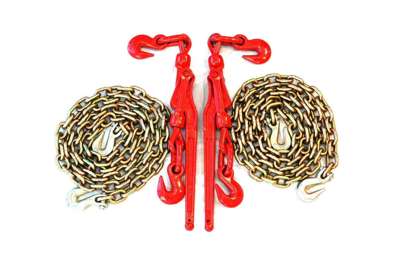 5/16'' Transport Package - (2) Lever Binders - (2) 10' Foot Chains Towing Wrecker