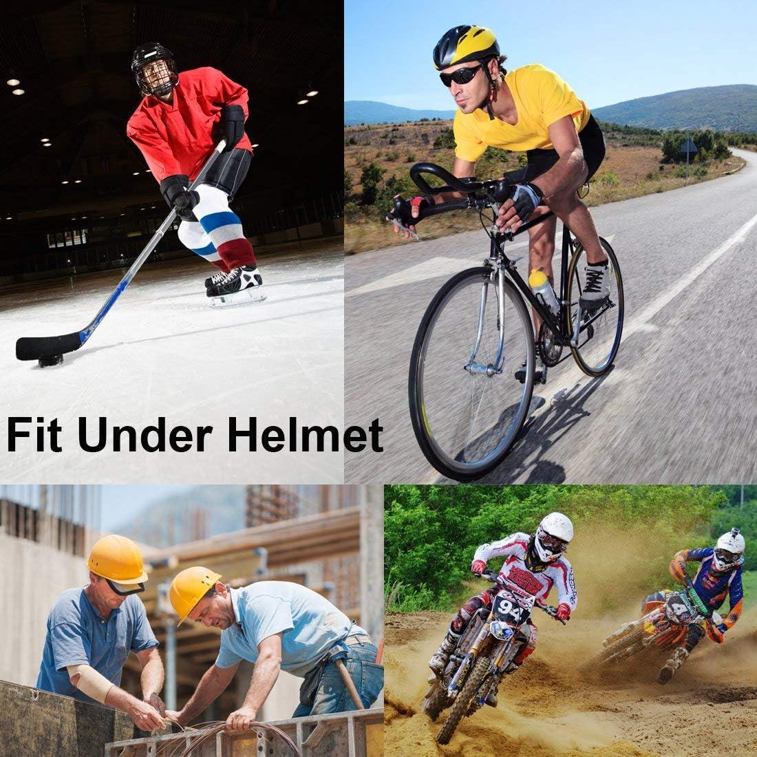 Wisolt Sweat-Wicking Beanie Cap 3 Pack Sweat Wicking Beanie Cap Chapeau Sports Headwear Cyclisme Moto Equitation Respirant Bandana Hat pour Hommes et Femmes