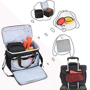 Amazon.com: LUXJA Bolsa de viaje para perro (incluye 2 ...