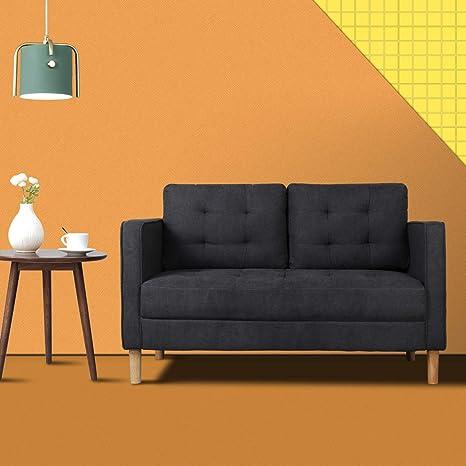 Amazon.com: Sofá/sofá tapizado de tela moderna de mediados ...
