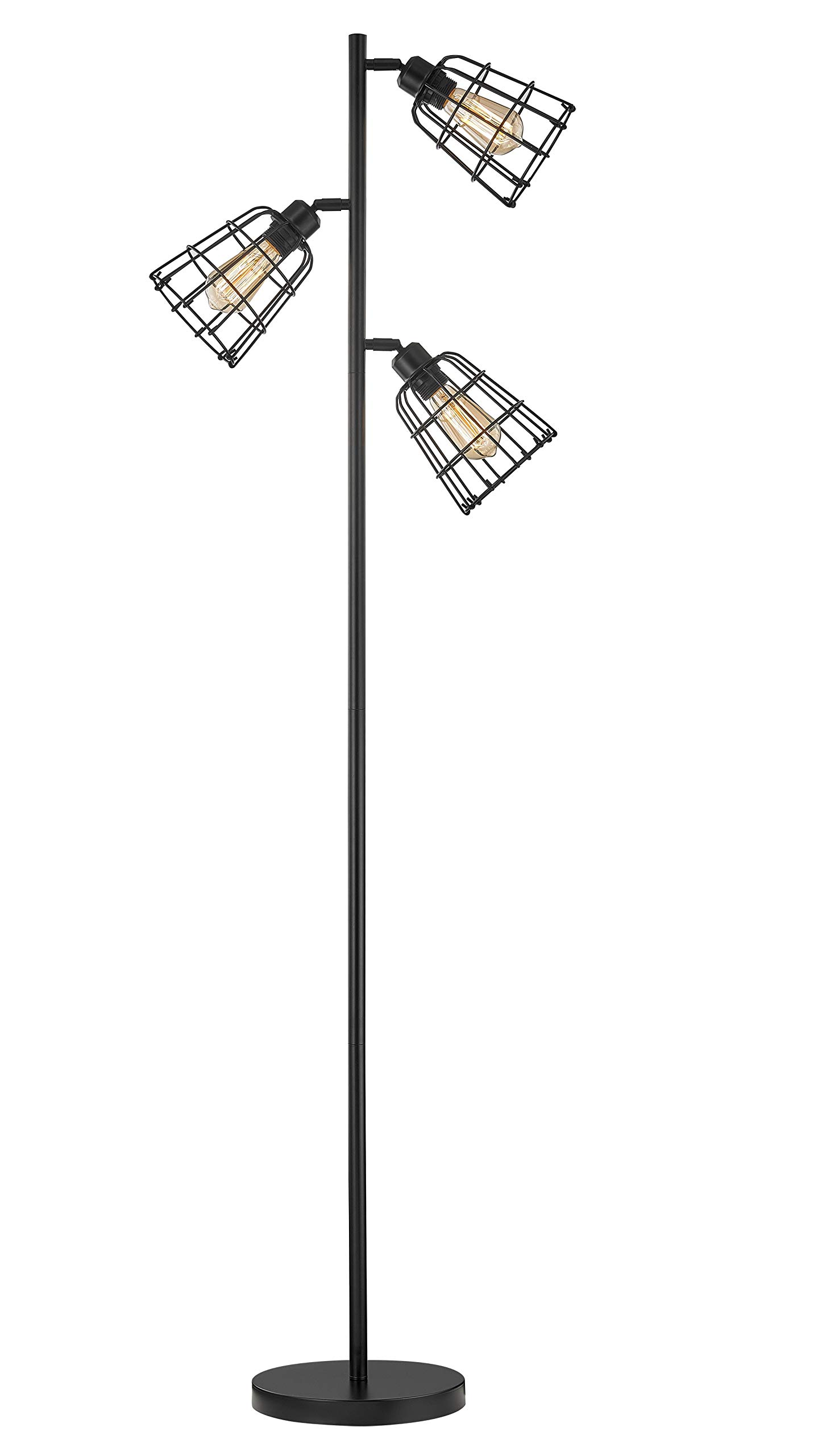 Modern Floor Lamp for Living Room Bright Lighting Tall Stand Up Lamp Farmhouse Rustic Industrial Black Tree Floor Lamps for Bedrooms, Office with Reading Light Standing Lamp by LeeZM