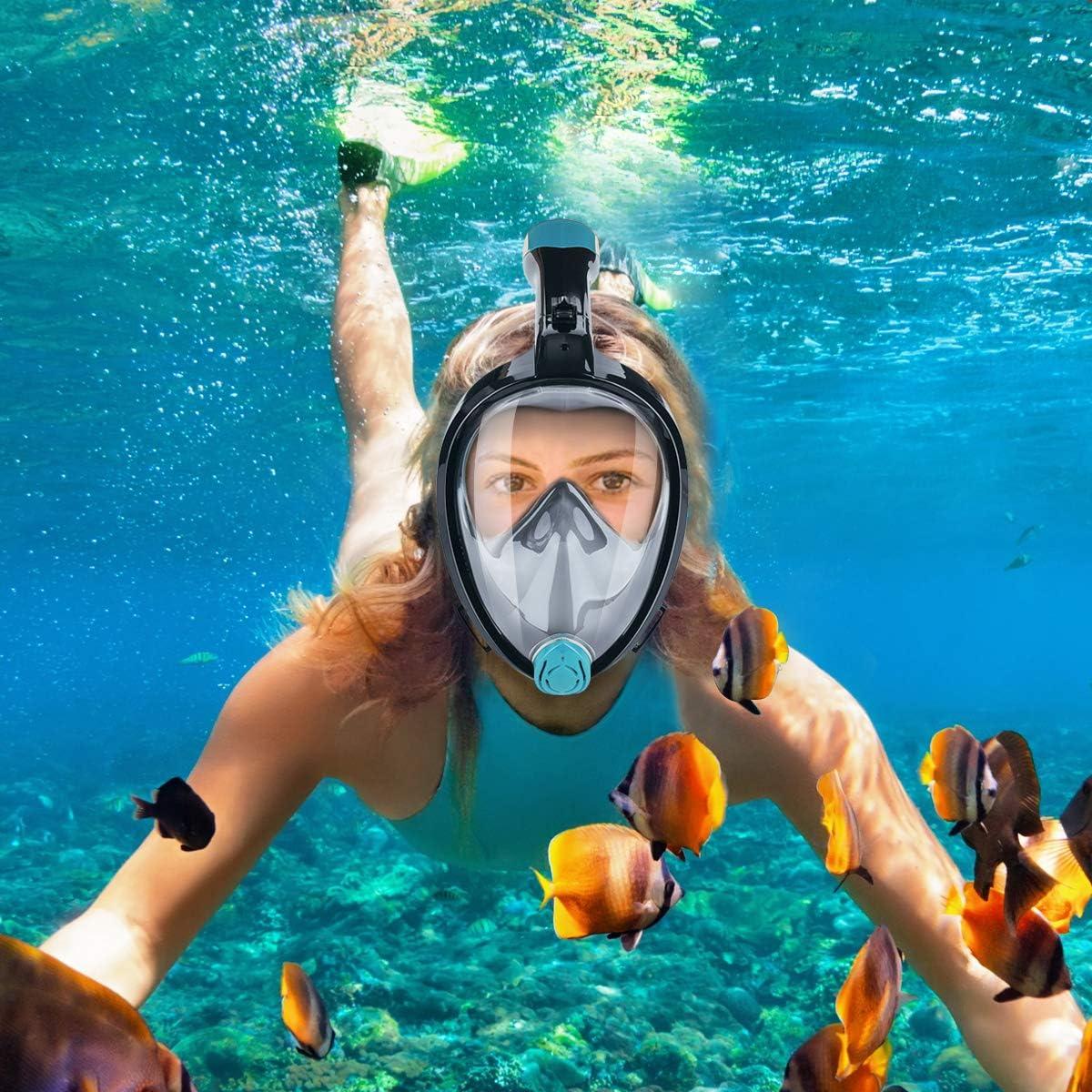 CAMTOA Máscara Buceo,máscara de Buceo bajo el Agua,Anti - Fog ...