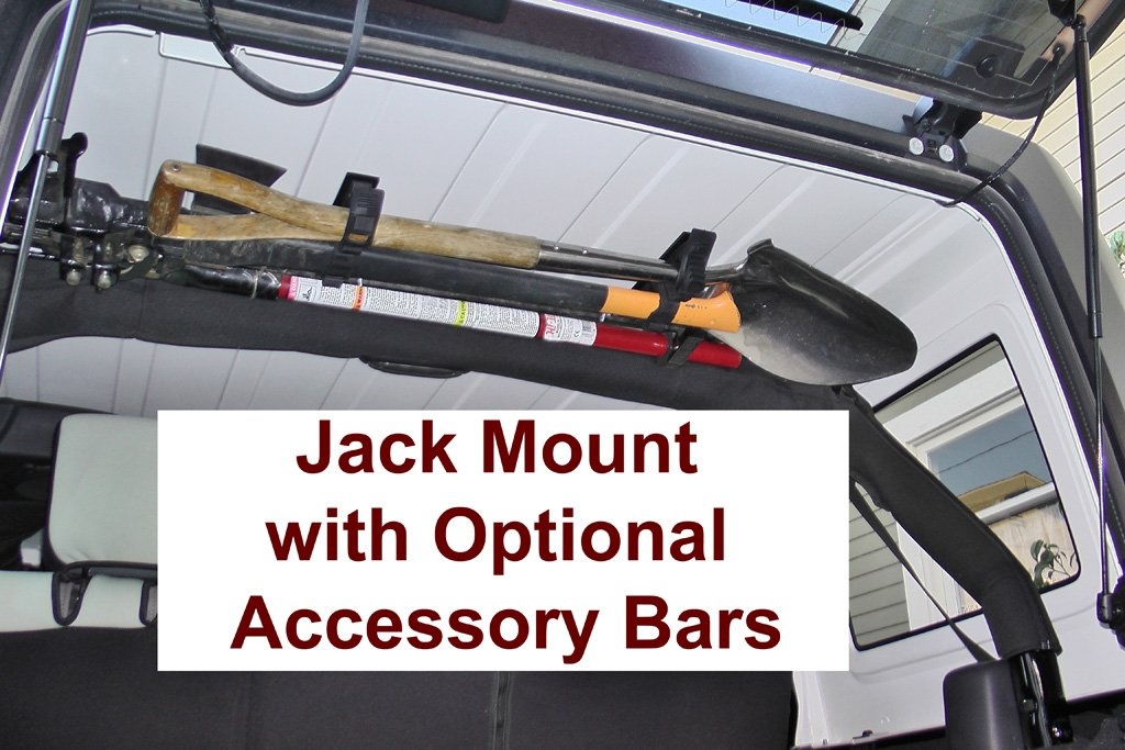 Dominion OffRoad Jeep JK Wrangler 4-Door 48'' Hi-Lift Jack Mount and Accessory Bars Combo Kit by Dominion OffRoad