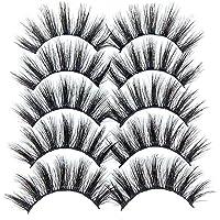 fregthf Eyelash Valse Wimpers Herbruikbare Magnetische Wimpers Handgemaakt Dramatische Dikke Gekruiste Cluster Valse…