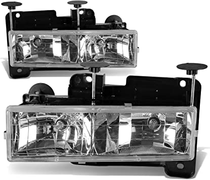 Driver And Passenger Side DNA MOTORING HL-OH-010-CH Headlight Assembly