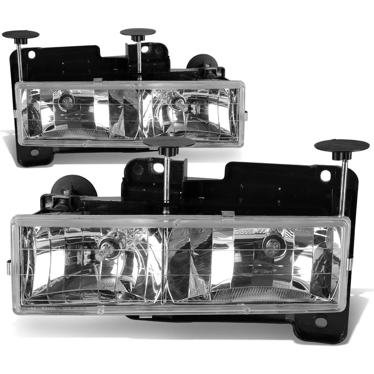 Driver and Passenger Side DNA Motoring HL-OH-C10-CH Headlight Assembly