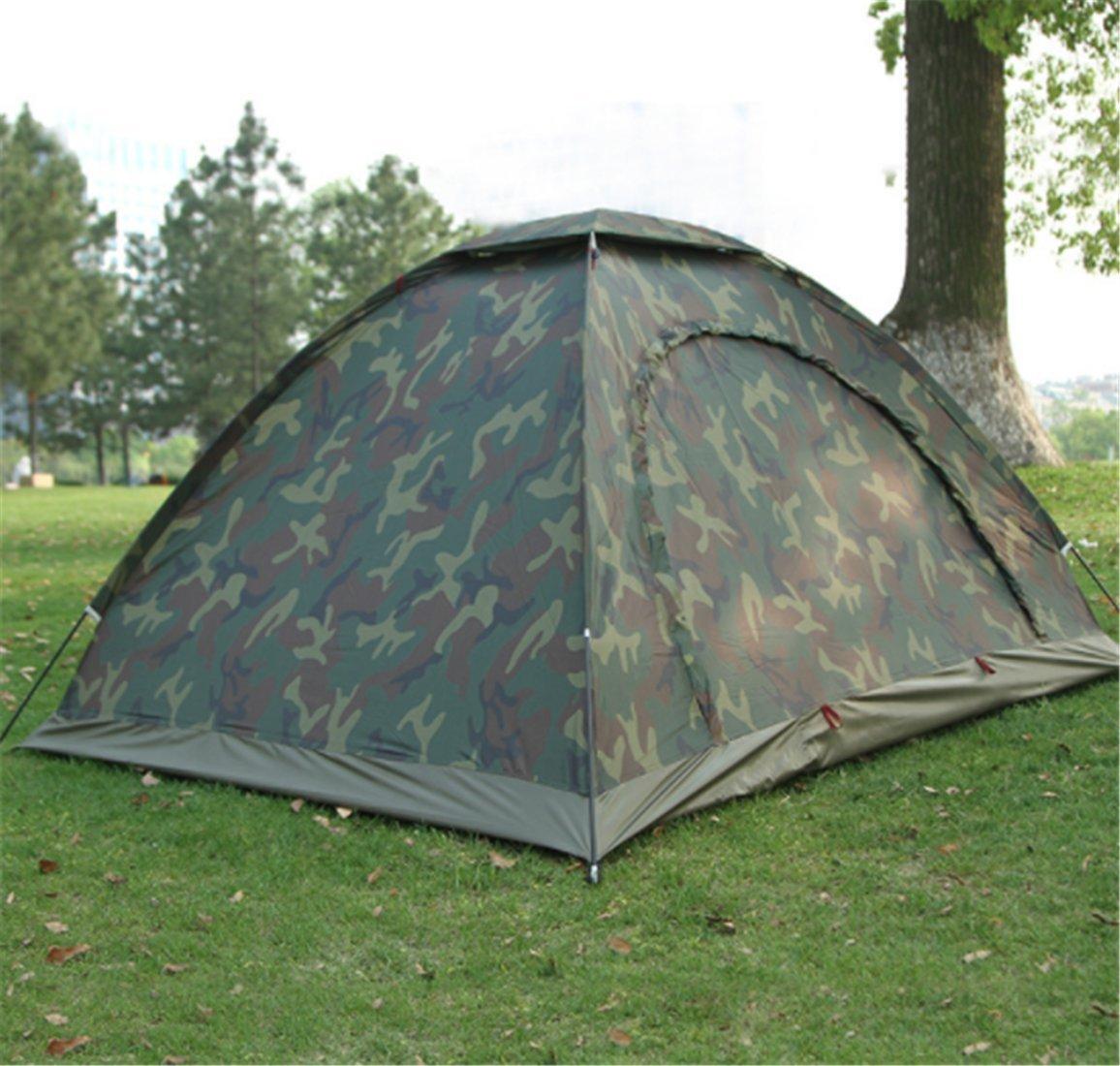 Yeying123 Outdoor 2-Personen Zelt Camping 3-4 Camouflage Zelt Paar Strand Freizeit Zelt,Single
