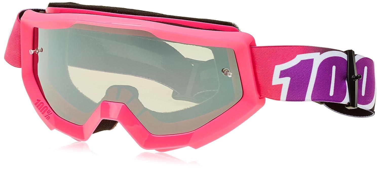 Amazon.com: 100% STRATA Goggles Bubble Gum - Mirror Silver Lens, One Size: Automotive