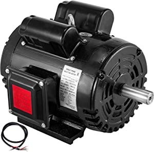 VEVOR Air Compressor Motor, 3HP 1725RPM Single Phase Electric Compressor Motor 230V 60Hz 184T Frame Electric Motor for Air Compressor
