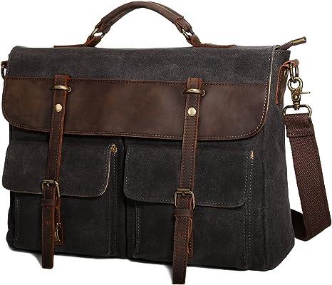 Bag Leather Vintage Men Messenger Shoulder Satchel School Briefcase Cross body