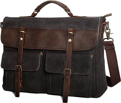 Leather Laptop Briefcase//Messenger Bag Cross Body Shoulder Vintage Style Bag