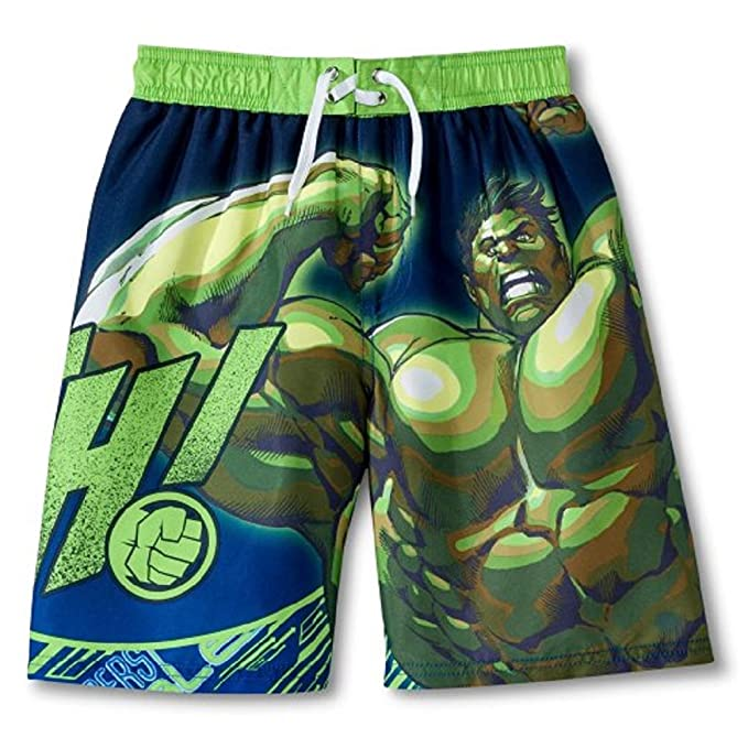082eadff29 Image Unavailable. Image not available for. Color: Marvel Boys Incredible  Hulk Smash Swim Trunks ...