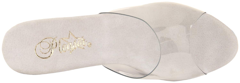 Pleaser Women's Diamond-701/C/M Platform Sandal B0044D12GU 5 B(M) US|Clear