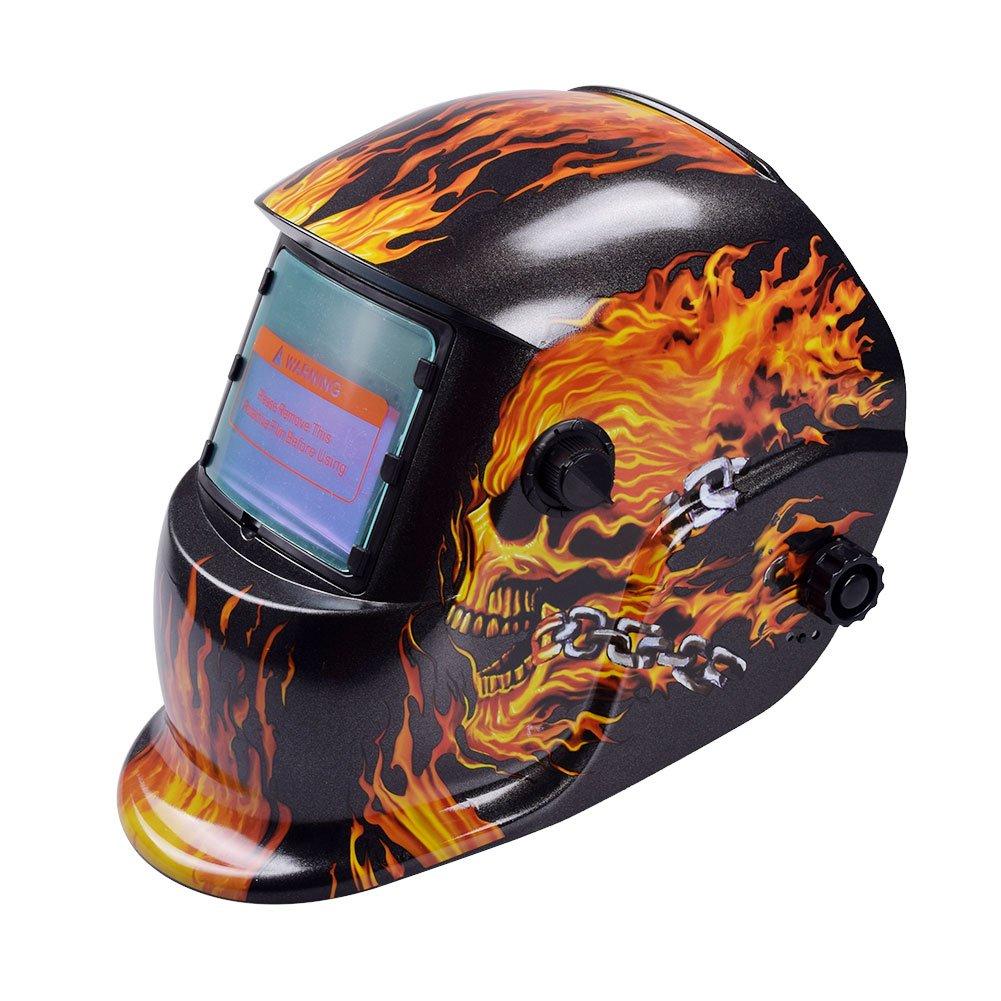 Tiptiper Oscurecimiento del casco de soldadura, oscurecimiento automá tico de la má scara del casco de soldadura Protecció n UV Protecció n IR