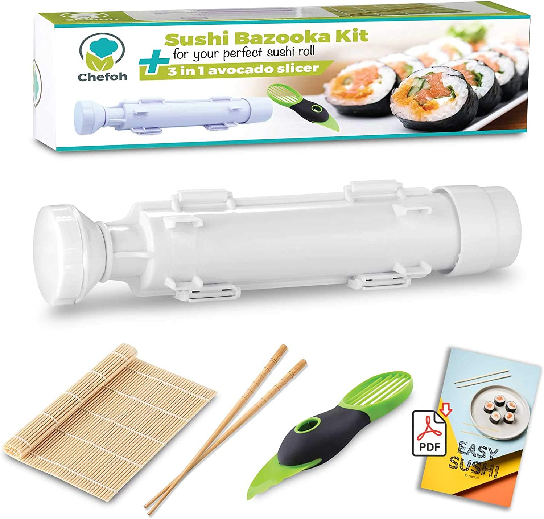 7Pc Slate Board Japonais Sushi Set avec Baguettes /& céramique Trempage Sauce Bols
