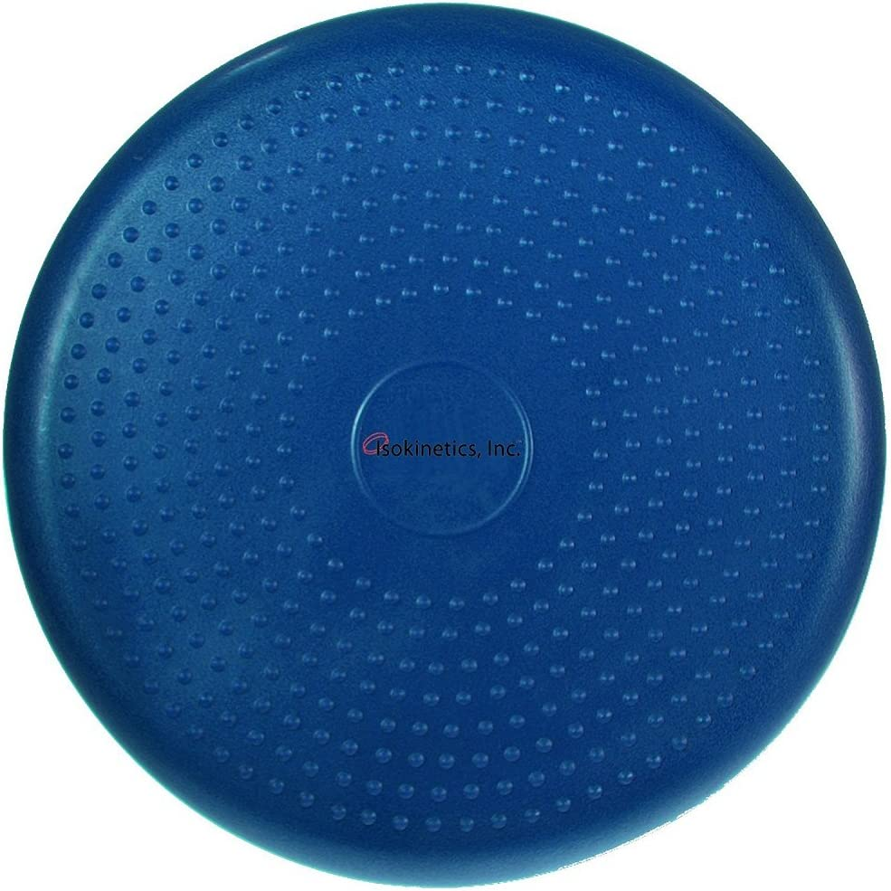 Isokinetics Inc. Balance Disc – 14 Round – Inflatable Stability Cushion for Therapy, Exercise, Core Training, Seats – Many Colors