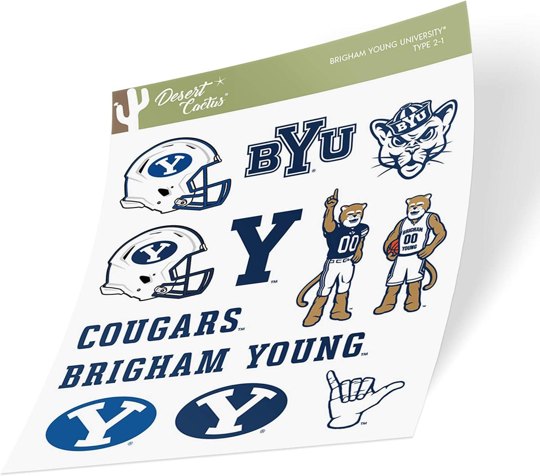 Brigham Young University BYU Cougars NCAA Vinyl Decal Laptop Water Bottle Car Scrapbook Sticker - 20