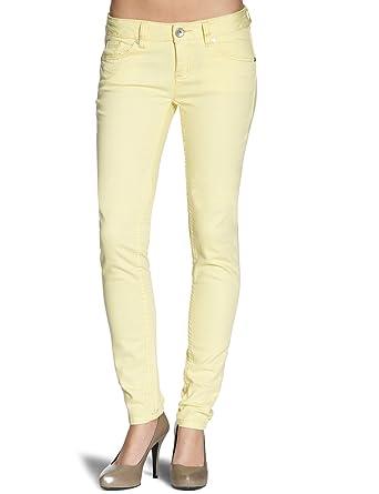 Tom Tailor Denim - Jean Skinny - Femme - Jaune (Summer Yellow) - Taille 2f8228de2b1