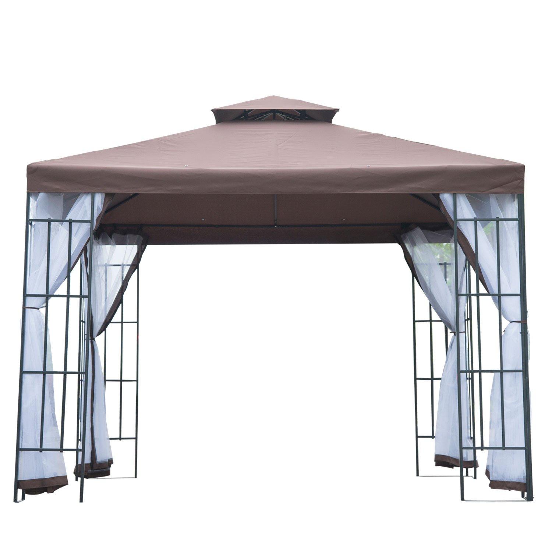 Outsunny - Cenador con Estructura metálica, 3 x 3 Metros ...