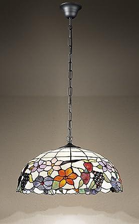 Lámpara de techo con cadena modelo t990s lámpara Tiffany ...