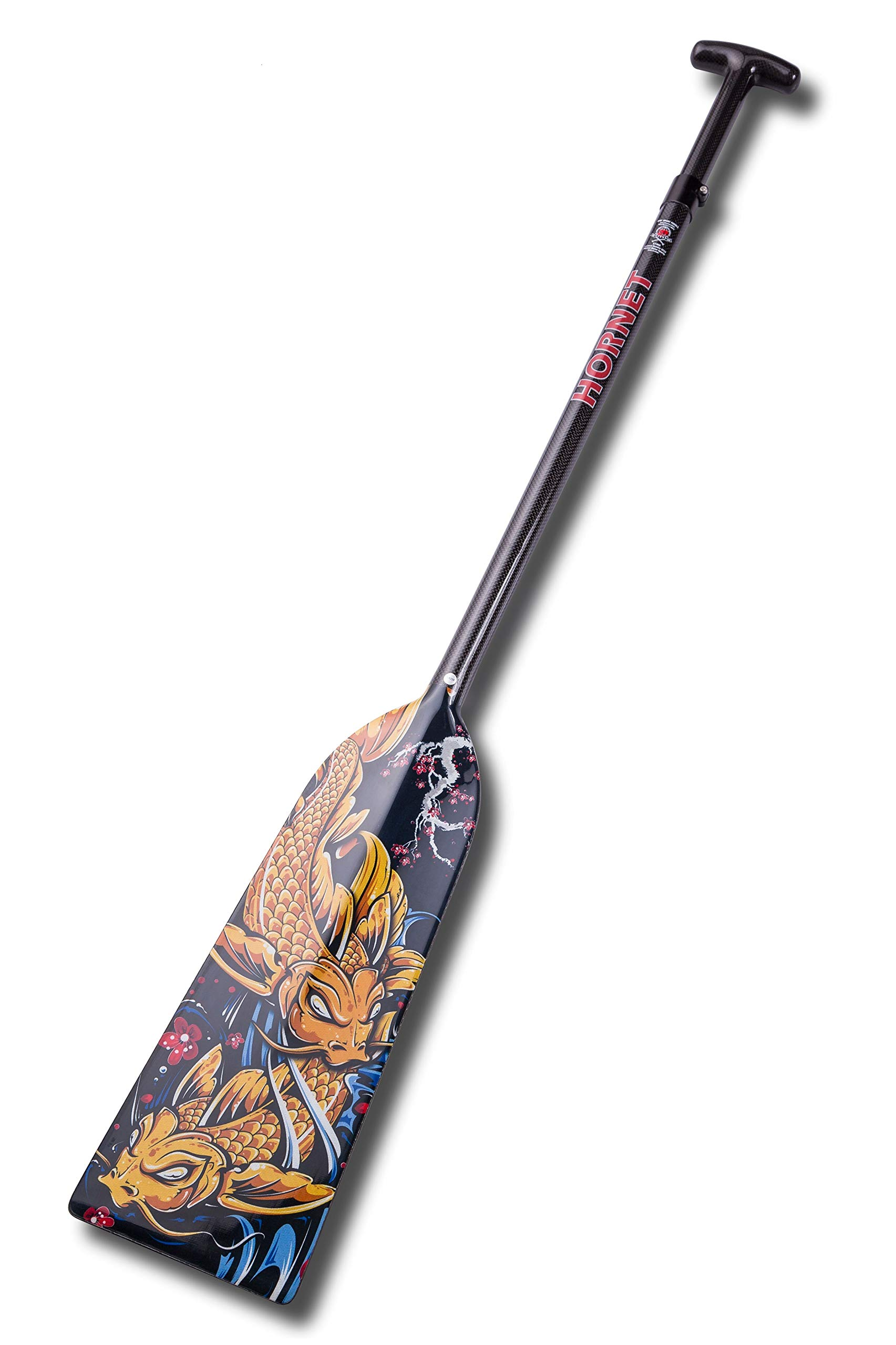 Hornet Watersports Dragon Boat Paddle Adjustable Carbon Fiber Sakura Koi Lightweight IDBF Approved by Hornet Watersports