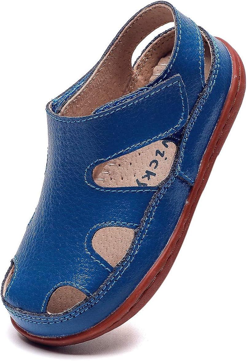 Sandalias de cuero con punta cerrada para hombres Zapatos casuales Pescador tran