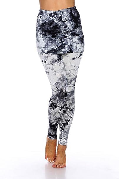 Amazon.com: White Mark - Mallas con falda teñida para mujer ...