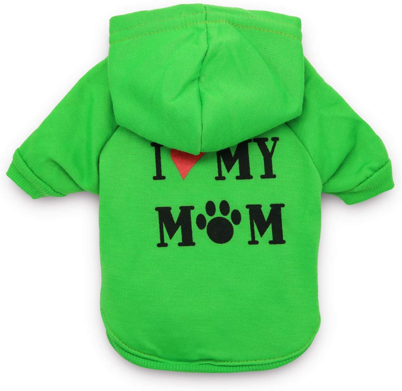 Green DroolingDog XS Cat Jumper Dog Clothing Pet Striped T Shirt for Small Dogs XS