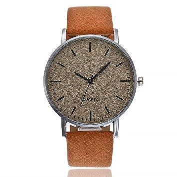 Beisoug Mejor Reloj de Pulsera de Cuero de Cuarzo Ocasional de la Mejor Mujer vansvar Reloj análogo: Amazon.es: Hogar