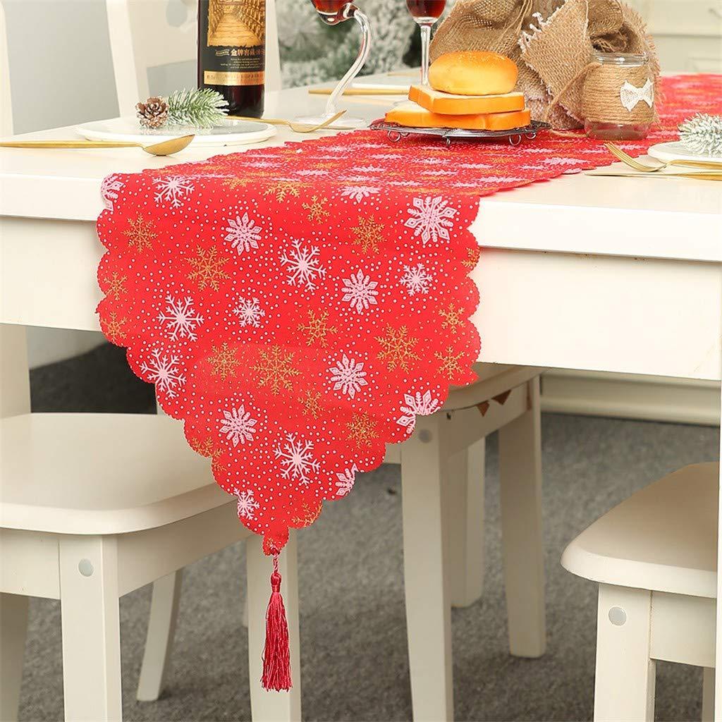 Amazon.com: SSYUNO Camino de mesa de Navidad – decoraciones ...