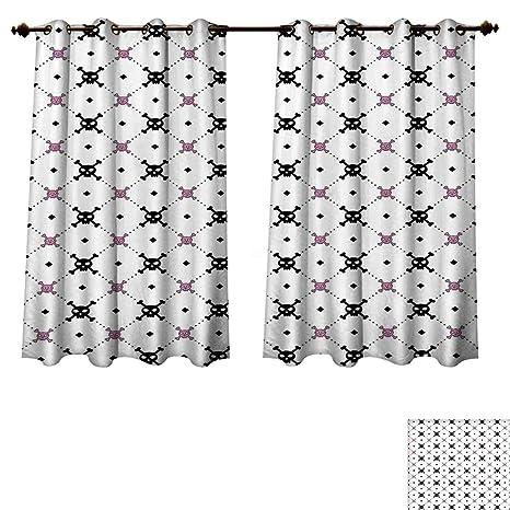 Amazon Com Rupperttextile Skulls Decorations Blackout Curtains