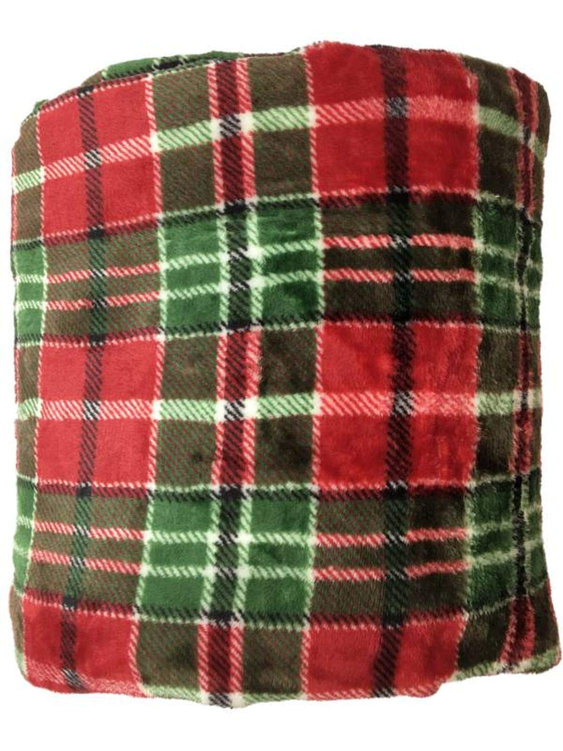 The Big One Supersoft Plush Throw (Christmas Plaid) by The Big One