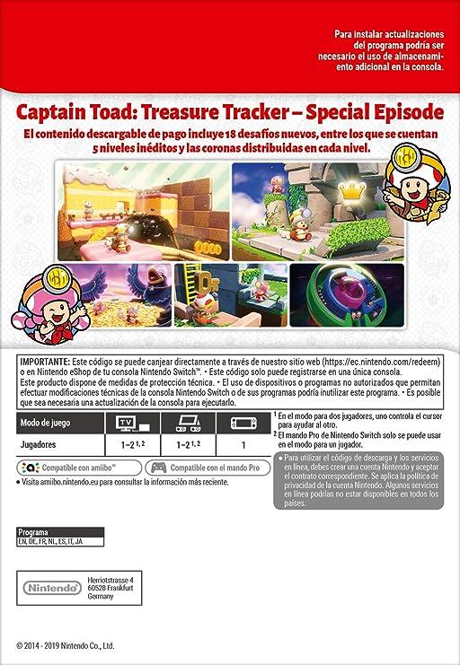 Captain Toad: Treasure Tracker – Special Episode [Switch - Download Code]: Amazon.es: Videojuegos