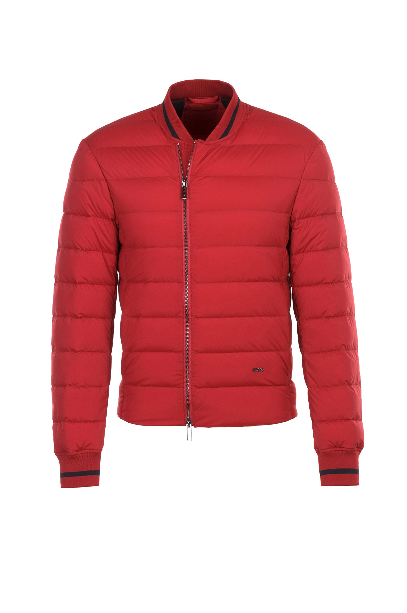 Emporio Armani 6Y1BA5 1NDCZ Mens Short Puff Jacket (Red, Large)
