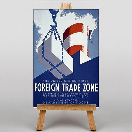 Impresión del cartel de la zona de comercio exterior No. 2 ...