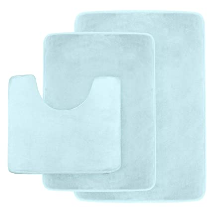 Amazon Clara Clark Non Slip Memory Foam Tub Shower Bath Rug Set