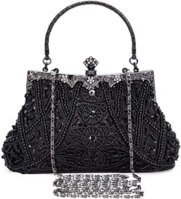 Evening Clutch for Women Evening Bag Crossbody Bag Wedding Bridal Purse Cocktail Party Prom Evening Bag Crossbody Bag Wedding Bridal Purse Cocktail Party Prom Black