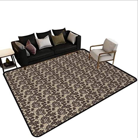 Awesome Amazon Com Mikidahome Office Rugs Inside Non Slip Floral Squirreltailoven Fun Painted Chair Ideas Images Squirreltailovenorg