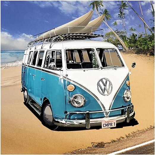 Poster Puerta Volkswagen Campers Beach