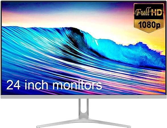 YAOJP Monitor Gaming 24 Pulgadas, Pantalla IPS De 75 Hz Borde Estrecho Ultradelgado HDMI HD 1080P Pantallas Ordenador De Escritorio De Oficina Protección para Los Ojos Flicker Free: Amazon.es: Hogar